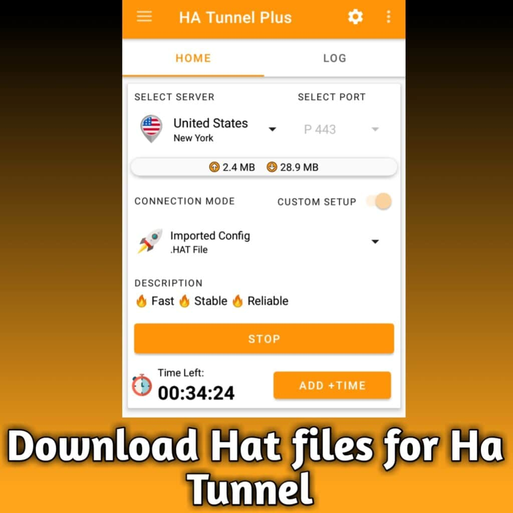 Hat file for ha tunnel