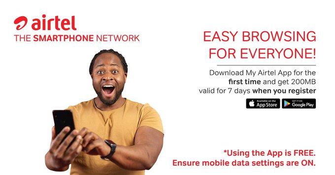 My Airtel App free data 200MB