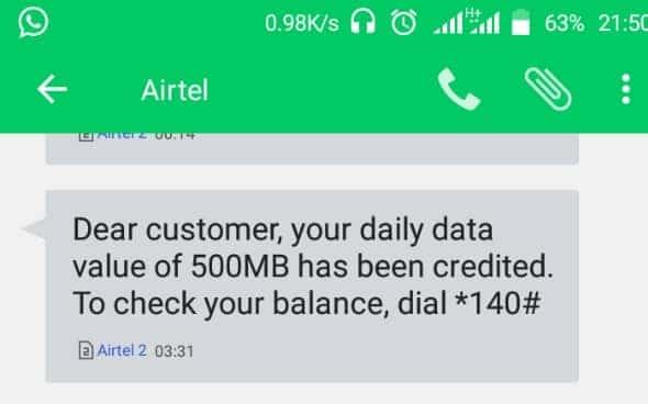 Airtel Everyday on data plans
