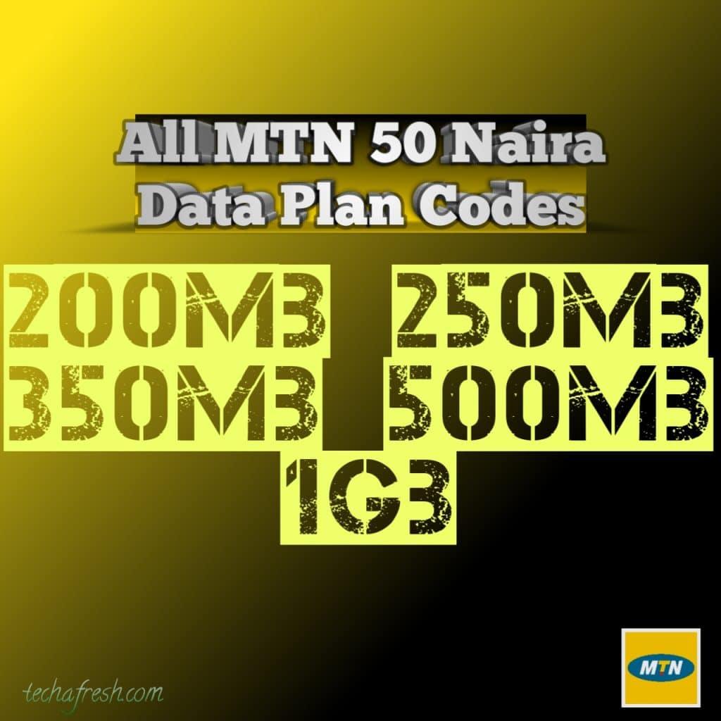 MTN 50 Naira data plan